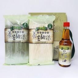 坪林農會三好禮禮盒茶油300cc*1+養生麵線300g*2/盒