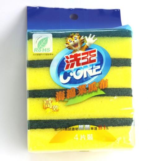 洗王海綿菜瓜布  4片/包