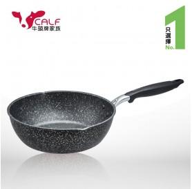 牛頭牌原石厚釜不沾平圓28cm炒鍋