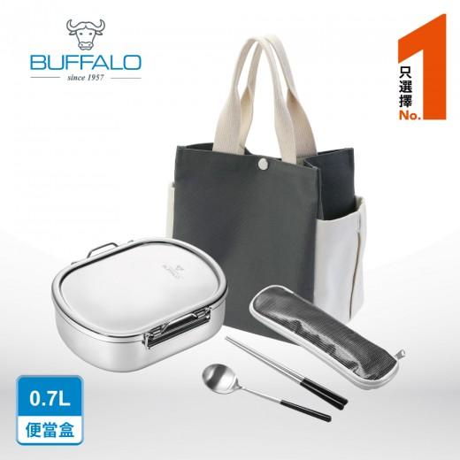 牛頭牌精選餐具組 雅登便當盒(中)+湯匙+筷子+餐具提袋