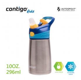 Contigo兒童保溫吸管瓶296ml(藍蓋)