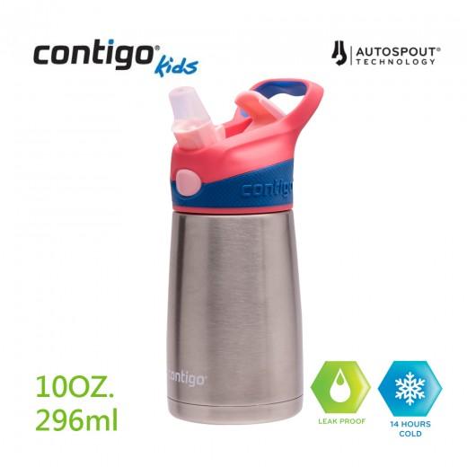 Contigo兒童保溫吸管瓶296ml(紅蓋)