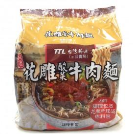 台酒花雕酸菜牛肉麵  (200g*3入/袋)*4入/箱