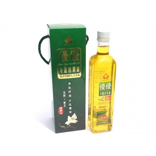 優優冷壓苦茶油 (500ml/瓶)