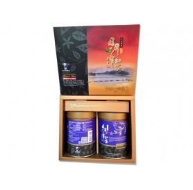 魚池鄉農會台灣原生種山茶(藏芽)禮盒 (50g x2罐/盒)
