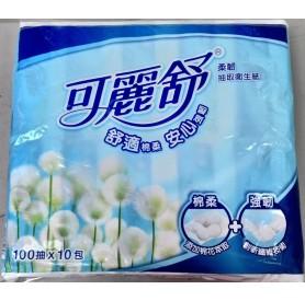 可麗舒抽取式衛生紙(100抽x10包)