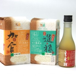 田中鎮農會穀意禮盒3入/盒(台稉9號1kg*2/玄米醋230g*1)