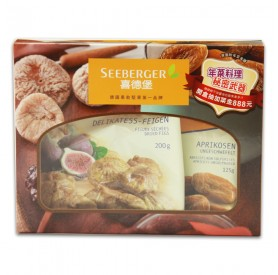 喜德堡春節禮盒(無花果乾200g*1+杏桃乾125g*1)